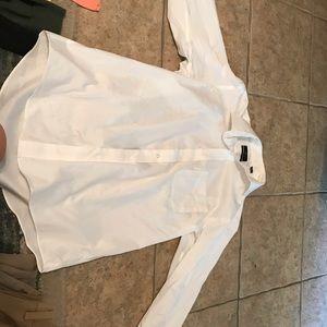 White button up men's dress shirt